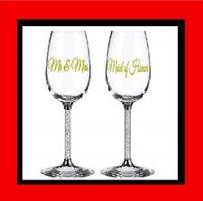 Wedding Role Stickers DIY Party Vinyl Wine Glass Decal Bridesmaid Bride Groom