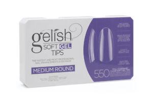 Gelish Soft Gel Tips - Medium Round 550ct #1168095