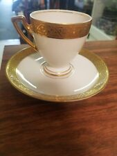 VINTAGE THOMAS GOLD ENCRUSTED CUP AND SAUCER SET BAVARIA