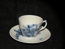 ROYAL COPENHAGEN BLUE FLOWER #1870 PORCELAIN CUP AND SAUCER