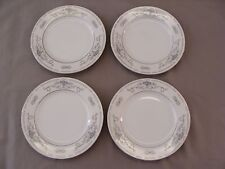 4 Bread Plates, Diane Pattern, Fine Porcelain China of Japan