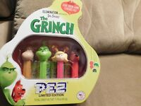 PEZ Candy Grinch Gift Tin Collectible 4 Pez Dispensers in Tin