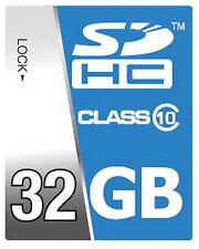 Scheda SD High Speed 32GB SDHC classe 10 carta per Nikon D3200