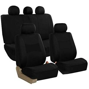 FH Group FB030BLACK115 Full Set Seat Cover (Side Airbag Compatible with Split