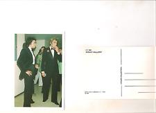 carte postale italienne 1998 JOHNNY HALLYDAY + MICHEL SARDOU