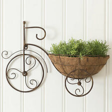Metal Bicycle Wall Planter