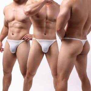 Mens Underwear T-Back G-String Briefs Sexy Adjustable Thongs Lingerie Underpants