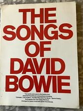 The Songs Of David Bowie Music Book 1977 Vintage Guitar Piano Vocal
