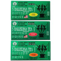 3 Ballerina Diet Tea Extra Strength for Men and Women 3 Boxes Flavored Combo