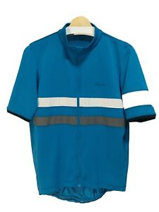 Rapha Brevet Lightweight Jersey Large Blue/Teal High Visibility