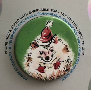NEW PopSockets PopGrip Cell Phone Grip & Stand - Christmas Naughty Hedgehog (B2)