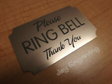 Engraved - Please RING BELL Copper Door Sign Small Business Home Office Signs