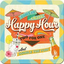 Nostalgic-Art 46128 Bier und Spirituosen Happy Hour Untersetzer