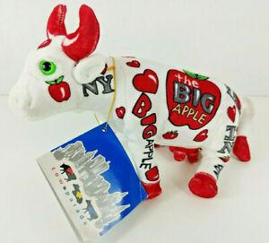 "FAO Schwarz ~ Cow Parade ~ The Big Apple ~ Plush Stuffed Animal ~ 8"""