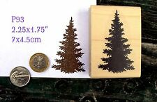 P93 Evergreen, pine tree silhouette rubber stamp wm