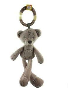 Musical Plush Crib Stroller Baby Pram Cute Rattle Hanging Rabbit Bear Animal Toy