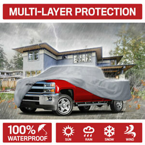 Motor Trend Pickup Truck Cover Waterproof UV Rain Dust Outdoor Protection