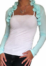 Ladies Bolero Womens Tops Shrug Cropped Cardigan Top Long Sleeve Size 8 10 12
