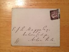 1888 National Liberal Club UK Envelope Used One Penny Stamp Inland Revenue Lilac