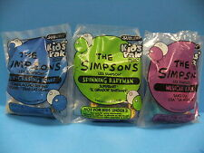 The Simpsons 1997 Subway Kids Pack Fast Food Premium Toy LOT Homer Lisa Bartman