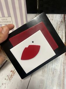 LULU GUINNESS ABSTRACT LIPS CLUTCH AND BAG -  (BOX 54)