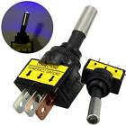 1PC 12V 20A 3Pin Car Auto Blue LED Light Toggle Rocker Switch SPST ON/OFF
