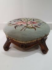 Antique Tapestry Footstool