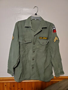 US Army OG-107 (Type 3 cotton) fatigue jacket, corporal 1st Army