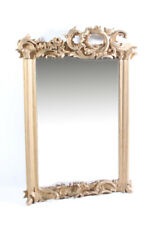 Old Mirror Wall Mirror Cult Retro Ornaments Gold Old Vintage Wood