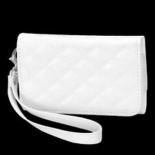 For Apple iPhone 4S/4 Premium White Quilted MyJacket Wallet Case Cover