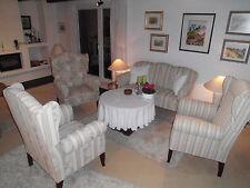 Ostfriesengruppe mit 2,5 Sofa und 3 Ohrensessel - neu angefertigt m. Boxspring