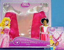 Disney Aurora princess costume dress girls 4-6X Sleeping Beauty; Jewelry-LOT-3