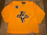 Vintage 90s Florida Panthers CCM Center Ice Yellow Promo Jersey Adult Size XL