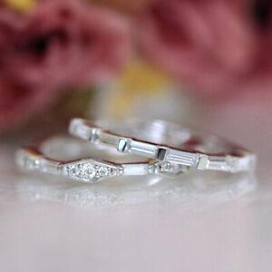 Baguette 14K White Gold Wedding Gift 0.50 Ct Moissanite Women Eternity Band 6