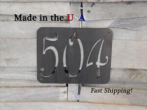 Artsy Number Plaque-Outdoor Home Decor-Address Sign-Metal Door Decor-HN1015