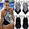 Women One-piece Swimsuit Swimwear Push Up Pad Monokini Bathing Suit Bikini Set