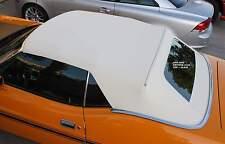 MERCURY COUGAR XR7  1971-73 CONVERTIBLE TOP+GLASS - WHITE VINYL