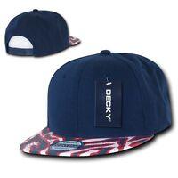 Navy / Red 2 Tone Zebra Animal Print Vintage Snapback Classic Flat Bill Hat Cap