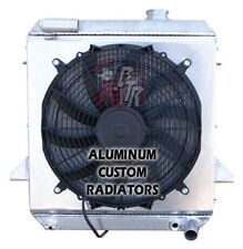 """1975-1976 Triumph TR6 Aluminum Radiator """"Made in USA"""" With a 16"""" fan and shroud"""
