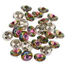 25x Colorful Crystal Button for Sofa Headboard Upholstery Decoration 25mm