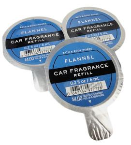 3 Bath & Body Works Scentportable FLANNEL Fragrance Refills .2 oz NEW Fast Ship