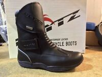 Short Ankle Motorcycle Boots Leather WP Motorbike/Scooter Armoured Shoes -MIAMI