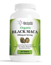 ORGANIC PERUVIAN BLACK MACA ROOT 1000mg 100 TABLETS ONE BOTTLE MALE ENHANCEMENT