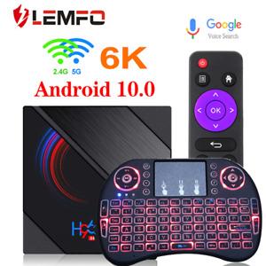 New H96 Max Quad Core 6K HD Smart TV Box Android 10 Double WIFI Wireless 4G+64GB
