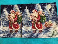 Kissenhülle Kissenbezug Winter Weihnachten für Sofakissen zwei Stück ca 42x42