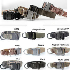 "Tactical Service Dog 1"" Metal Buckle Collar  [9 colors option]"
