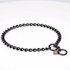 Stylish Black Stainless Steel Dog Collar | 3mm Herm Sprenger Chain Choker