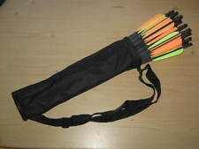 "SET: 25 Ek Archery Research Carbon bolts 20"" + quiver + lube wax + UHU"