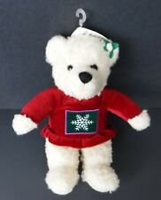 Hallmark Kiss Kiss Mistletoe Bear Stuffed Animal Serpa Plush Christmas 9 1/2""