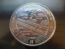 lake pontchartrain causeway longest bridge mardi gras doubloon orleans coin coin
